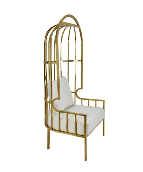 Gold Cage Chair