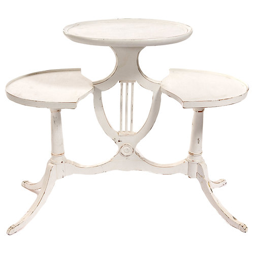 White Tri Level Table