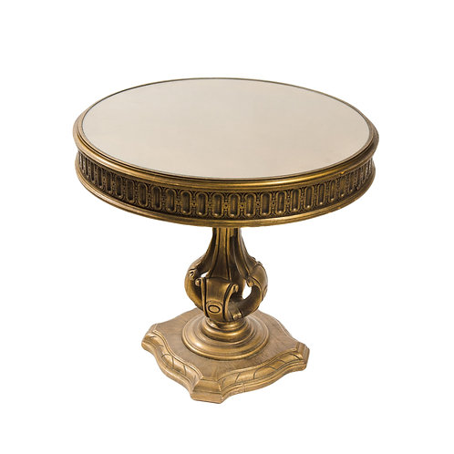 Gold Glass Top Side Table
