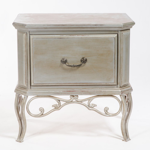 Elegant Silver Wood End Table