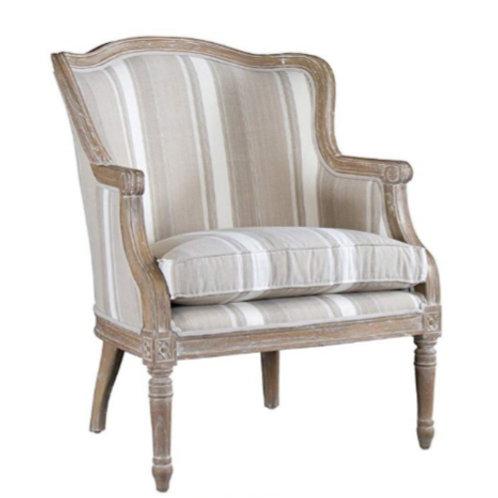 Baxton Striped Wingback Chair