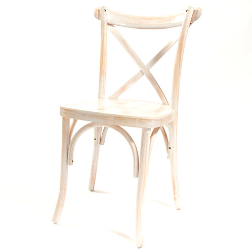White Wash X-Back Chairs