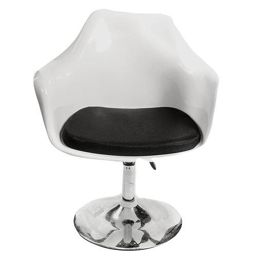 White Acrylic Swivel Chair