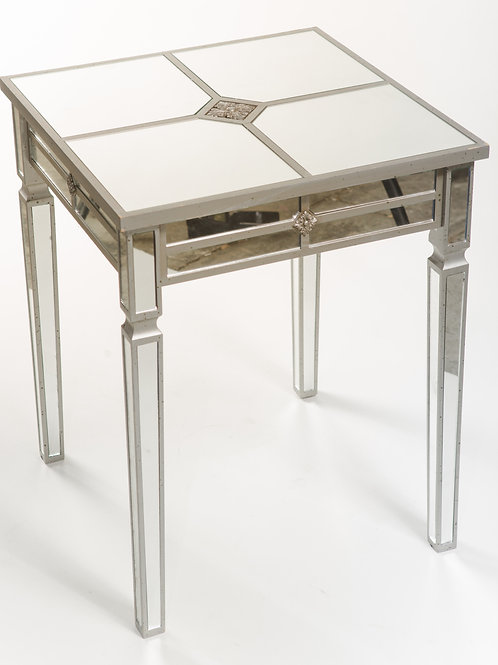 Square Mirrored Side Table