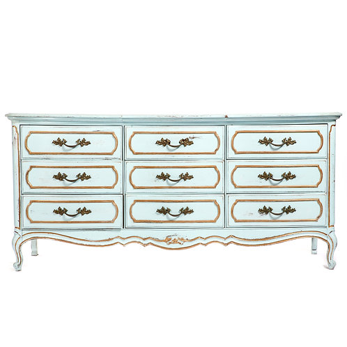 Blue and Gold French Provincial Dresser