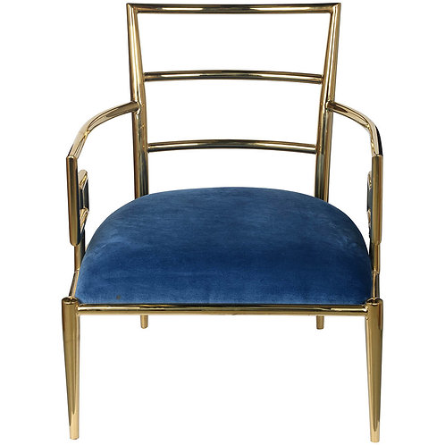 Blue & Gold Accent Chair