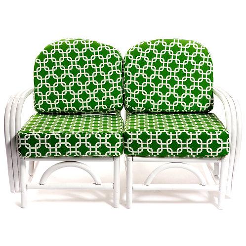 Green Quatrefoil Loveseat