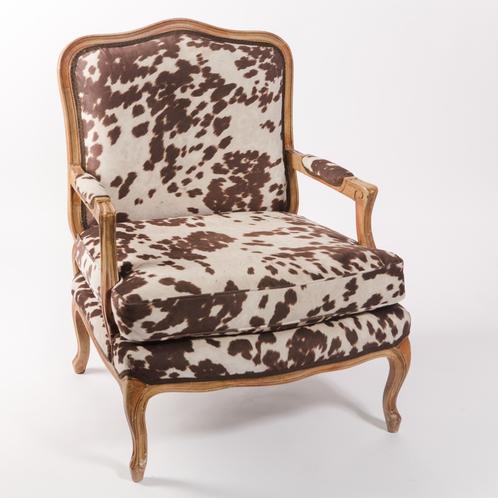 Cowhide Arm Chair | John Gandy Events - Tallahassee ...