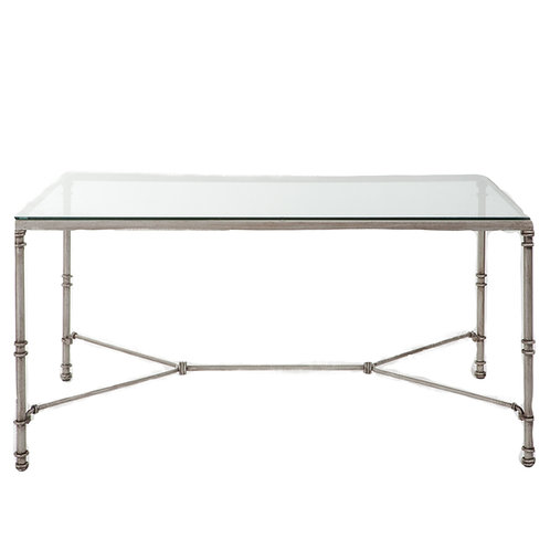 Outside Silver Glass Dining Table