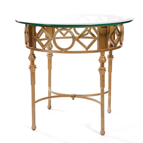 Gold Wrought Iron Side Table