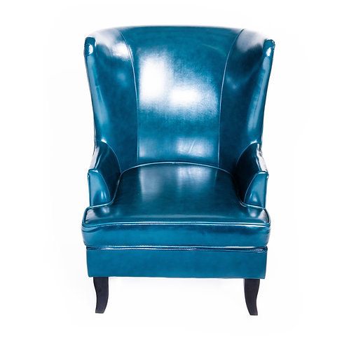 Teal Blue Leather Chair