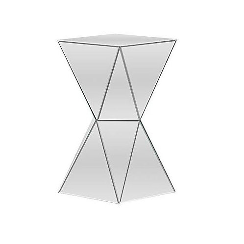 Multi-Faceted Mirror Side Table