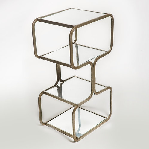 Mirror 3 Tier Side Table