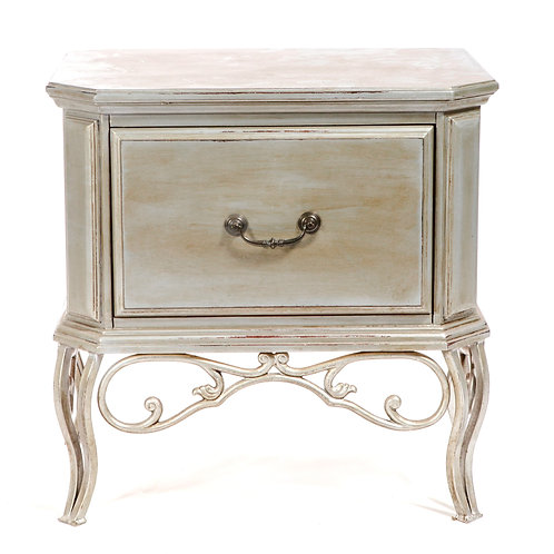 Silver Wood End Table