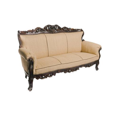 Burlap Sofa