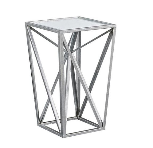 Silver Mirror Side Table