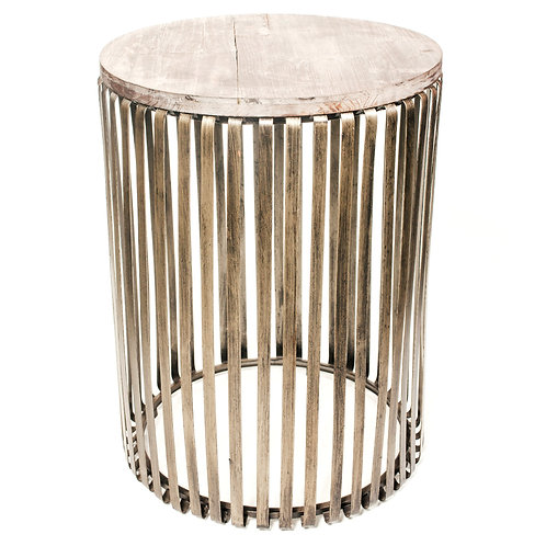 Round Cage Side Table
