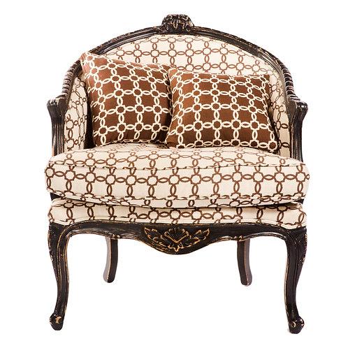 Mocha Quatrefoil Chair
