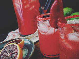 Spicy Blood Orange Margaritas