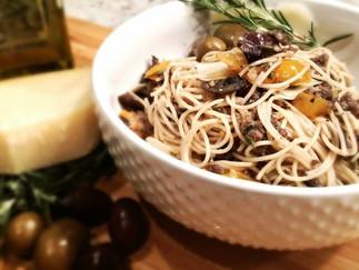 """Sausage, Kalamata Olive and Rosemary """"Naked"""" Pasta"""
