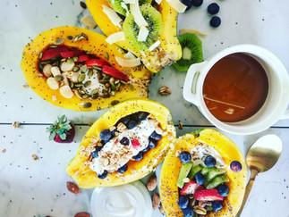 Papaya Sunrise Breakfast Bowls