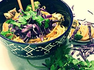 Spicy Coconut Curry Noodles (Slurp, Slurp)