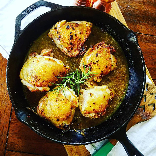 Honey Mustard And Rosemary Chicken Thighs Caviar And Crayons A