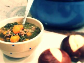 Sausage, Kale and Sweet Potato Soup