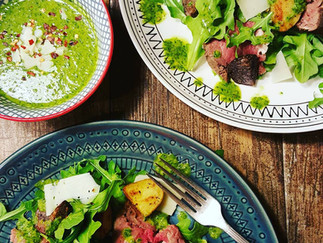 Steak, Potato and Arugula Salad with a Chimichurri Dressing