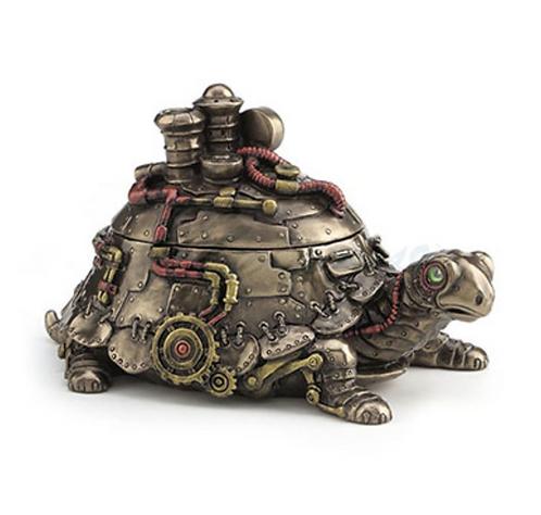 Steampunk Tortoise Trinket Box