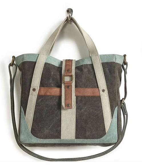 Up-Cycled Canvas Crossbody
