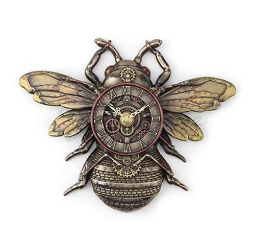 Steampunk Bee Wall Clock