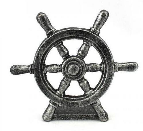 Cast Iron Ship Wheel Door Stopper