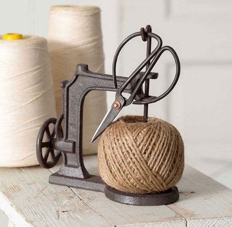 Sewing Machine Twine Holder with Scissors