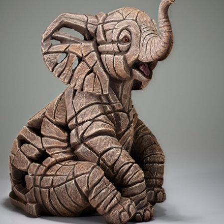 Baby Elephant - Edge Sculpture