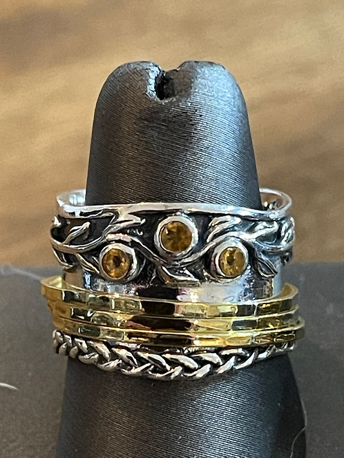 Sterling Silver Spinner Rings - Paz Creations