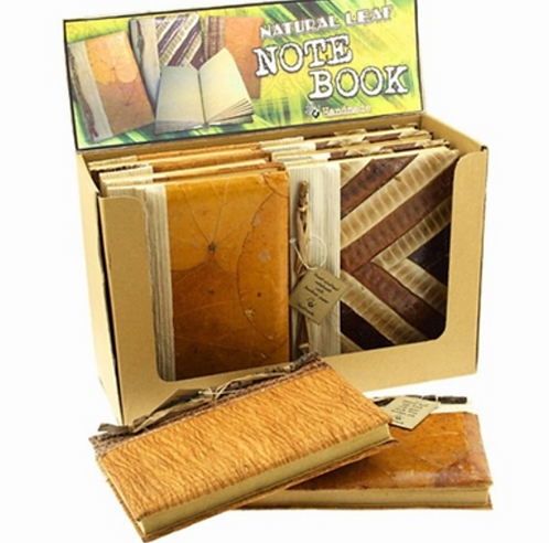 All Natural Leave Note Book with Bamboo Paper