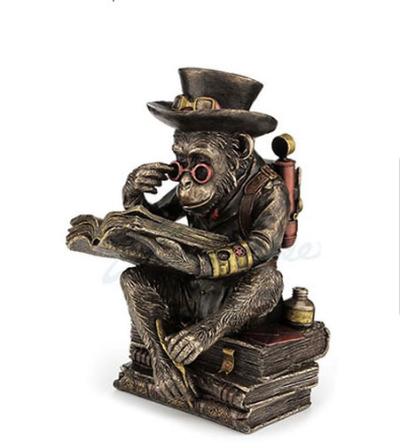 Steampunk Bronze/Copper Scholar Chimp