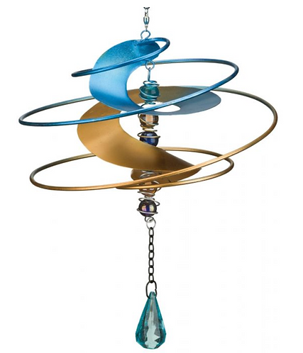 Fantasia Hanging Wind Spinner - Blue