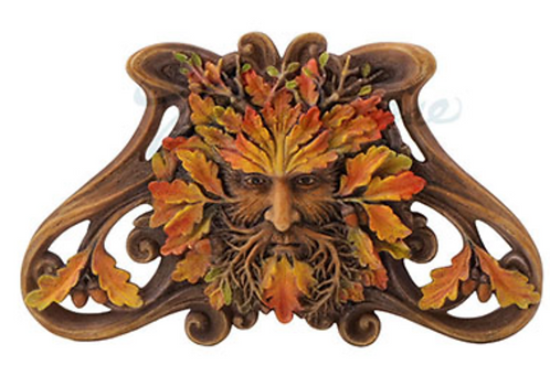 Green Man: Maple Wall Plaque