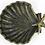 Thumbnail: Antique Gold Cast Iron Shell Dish