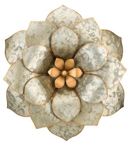 Galvanized Wall Flower