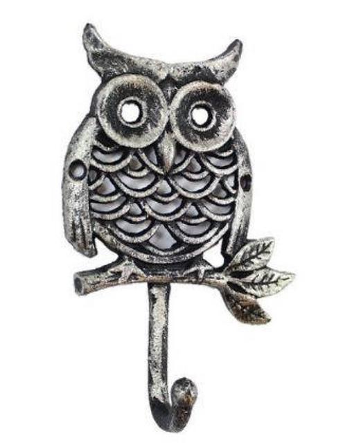 Cast Iron Owl Hook