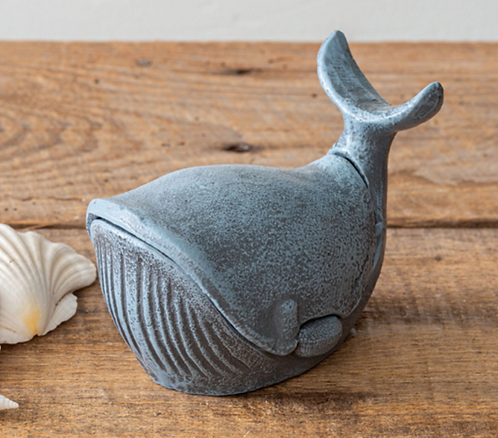 Cast Iron Whale Trinket or Key Holder