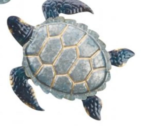 Metal Turtle Decor