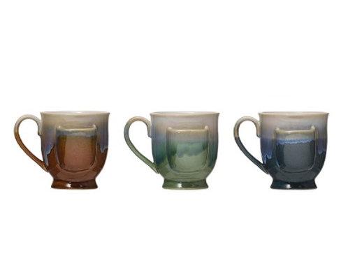 Stoneware Tea Cup with Tea Bag Holder