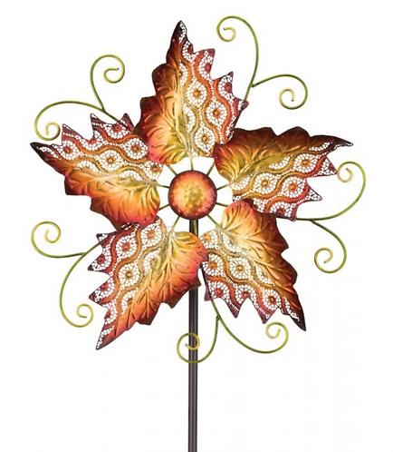 Wind Spinner ~ Orange Leaves