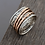 Thumbnail: .925 Sterling Silver Spinner Rings - Paz Creations