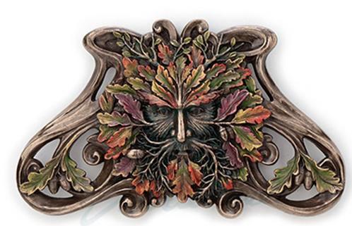 copy of Green Man: Winter Mistletoe Wall Plaque