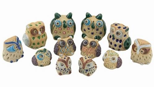 Handmade Ceramic Owls
